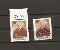 BUND 1988 2x Michel 1357 postfrisch RANDSTÜCK + gestempelt COESFELD BRD