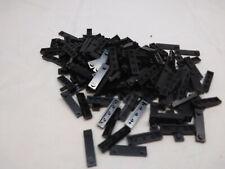modified 1x4 with 2 studs Noir // Black Lego 92593-6x Plaque // Plate NEUF
