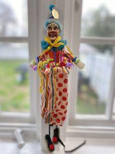 Katherine's Collection Wayne Kleski Retired Clown Doll Mardi Gras Very Rare!!