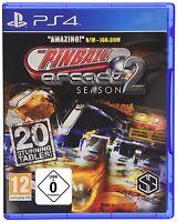 PS4 Spiel Pinball Arcade Season 2 Teil 2 Flipper NEU&OVP
