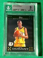 KEVIN DURANT 2007-08 TOPPS BGS 9 MINT ROOKIE RC #112 w 9.5 SURFACE! TOUGH GRADE