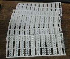 New lot of 7 Wago 1 to 50 terminal markers 209-666 - 60 day warranty