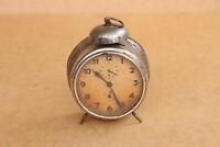 Old Antique Vintage German Alarm Desk Clock Junghans about 1920's Working Order
