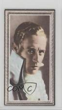 1936 Godfrey Phillips Stars of the Screen Tobacco Base #8 Leslie Howard Card 0iu