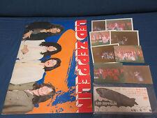 Led Zeppelin 1971 Japan Tour Book w Ticket Photos Jimmy Page Robert Plant Progra
