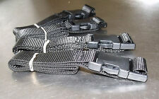 4-pack of 1.0m TOUGH Side-release Buckle Straps Black - Luggage, Small Suitcase
