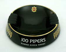 100 Pipers Blended Scotch Whisky - Advertising Ashtray - Wade - Made In England