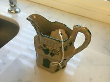 Vintage  Ceramic Floral Pitcher - pottery house 3 x 3 inches