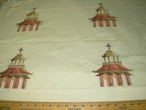 10 YDS ROBERT ALLEN ASIAN ORIENTAL EMBROIDERY UPHOLSTERY FABRIC FOR LESS ITALY
