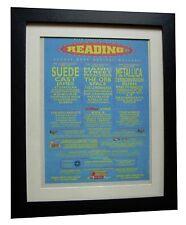 READING FESTIVAL+ORIGINAL 1997+ROCK+POSTER+AD+FRAMED+EXPRESS GLOBAL SHIP+TICKETS