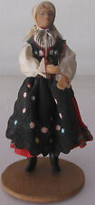 Doll in the Polish national costume. Handmade. 1970. Free shipping.