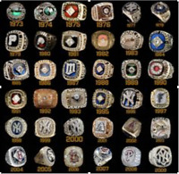 ALL MLB Championship rings from year 1901 to 2019 with Wooden Display Box