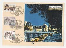 Carte émission commune Belgique - France - Suisse - Georges Siménon - 1994