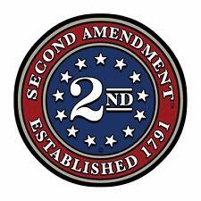 "2 x 3"" Second Amendment Brand 2nd Circle Seal Sticker Decal American USA 2A"