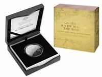 2019 AUSTRALIA A NEW MAP OF THE WORLD COOK'S TRACKS Silver Proof Coin