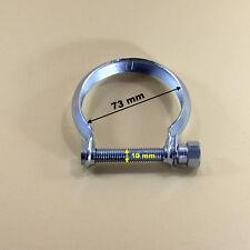 Auspuffschelle  für Katalysator , Abgasrohr , Hosenrohr , Schelle M10 , Ø 73 mm