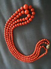 Collier corail ancien old coral necklace