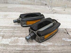 1960s Schwinn Approved Union U30 Black Rubber Bow Pedals 1/2 Muscle Bike Cruiser