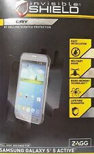 New Zagg Samsung Galaxy S5 Active Invisible Shield Full Body Screen Protector