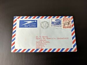 South Africa 1955 Airmail Cover to England Kaapstad Capetown Postmark 1/- & 3d
