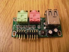 Generic PC Case BA7228 Front Panel Audio USB i/o Board
