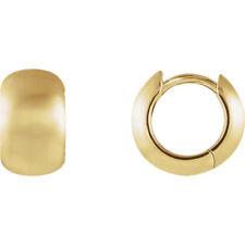 14k yellow gold hinged hoop earings