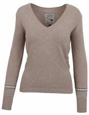 LA GAUCHITA by L' ARGENTINA Damen Pullover Sweater Größe M 38 V-Ausschnitt Beige