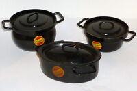 Antique Pristalit Cast Iron Doll's Kitchen Roaster Pots Dolls Tableware Pot