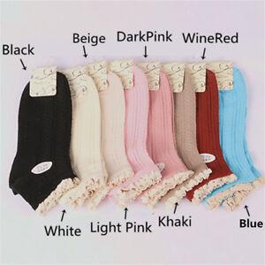 2 Pairs Multicolor Bamboo Fiber Crochet Lace Ankle Socks Low Cut Women Girls