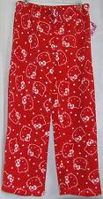 Hello Kitty Plush Pajama Bottoms MEDIUM FREE USA SHIPPING NWT