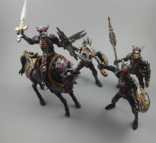 5PCS/Set  Dragon Knight Warrior Horse Medieval Toy Soldier Action Figures