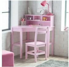 School Desks for Kids Computer Desk And Chair Set Girl Corner Hutch Writing Pink