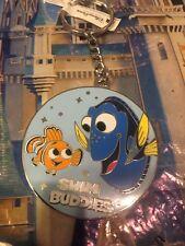 "Disney Pixar Fest Dory & Nemo Keychain ""Swim Buddies"" Key Ring"