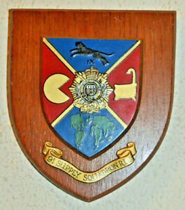 91 Supply Squadron Royal Logistic Corps regimental mess wall plaque shield RCT