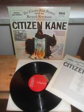 "Bernard Herrmann ""CITIZEN KANE"" LP OST RCA RED SEAL USA 1974  ARL1-0707"