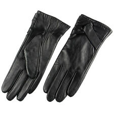 Ladies Genuine Nappa Leather W or W/O touch function Warm Gloves On Sale #L074