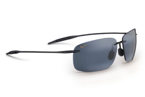 Maui Breakwall POLARIZED Sunglasses - Gloss Black Neutral Grey 422-02