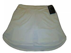 """Womens Nike Dry Golf Skirt Skort 17"""" White Size Small AJ5242-133"""