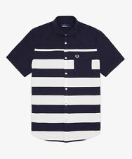 Fred Perry Men's Pique Stripe Shirt Sizes: S / M