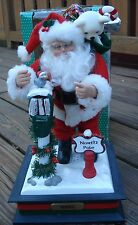 HOLIDAY CREATIONS SANTA NOEL CHRISTMAS NORTH POLE LIGHT PLAYS FAVORITE CAROLS