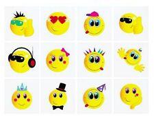 48 girls boys Smiley Face TATTOOS set Party Bags GOODY Pinata, children hen