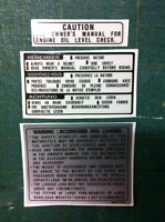 Adesivi parafango posteriore e serbatoio honda XL 600 RM