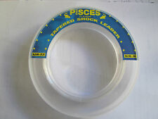 5 x PISCES CLEAR TAPERED SHOCK LEADERS 15 metres 20lbs to 60lbs
