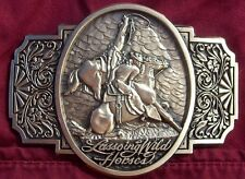 Award Design Medals Lassoing Wild Horses By Solon Borglum First Edition 1985-86