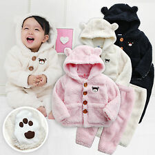 "Vaenait Baby Snowsuit Fleece Hoodie Jacket Pants 2pcs Set ""Bear Set"" 6-24M"