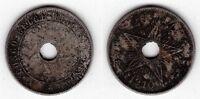 BELGIAN CONGO – 20 CENTIMES COIN 1910 YEAR KM#19