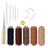 14Pcs Scarpe Pelle Tela Strumento Di Cuoio Craft La Perforazione Aghi Cucito