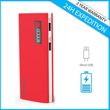 Doca D566A 13000mAh Power Bank Chargeur Oplader Portable Phone Charger Red