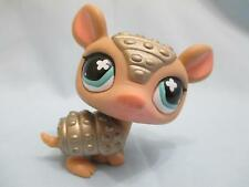 Littlest Pet Shop #638 Tan And Silver Armadillo 100% Authentic minor wear