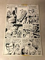 HOUSE OF MYSTERY #256 original art 1979 KILLS DRACULA VAMPIRE CURSE STAKE HEART